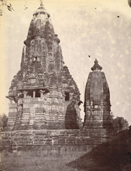 General view from the west of the Visvanatha Temple, Khajuraho